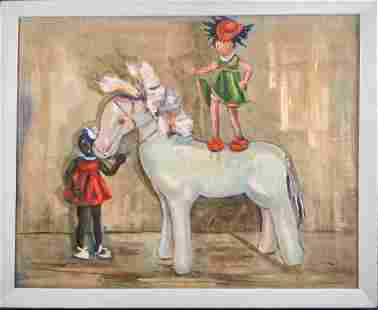 Original Winifred Johnson Clive Oil On Canvas X1