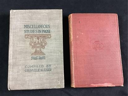 Lot of 2 Vintage books Late 1800s to Early 1900s Little