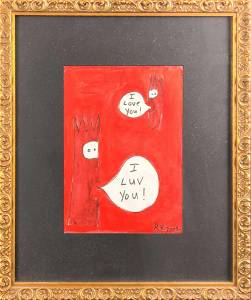 Original Robin Van Arsdol Acyclic I Love You X1