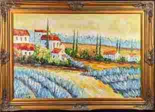 Original Benjamin Parker Framed Acrylic On Canvas