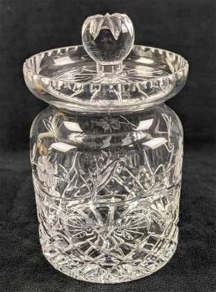 Crystal Cookie Jar With Lid Similar To Waterford