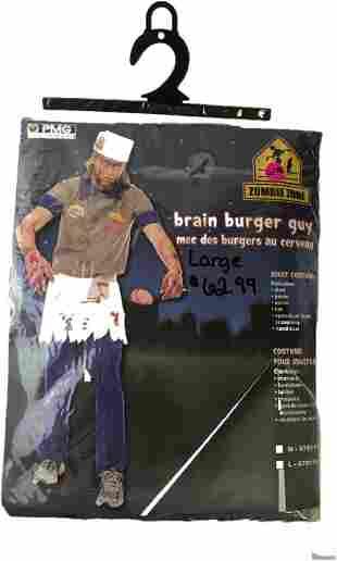 Halloween Costume, Brain Burger Guy, Cannibal Carl from