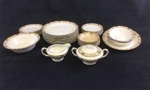 Vintage Crown Potteries Co Porcelain Set