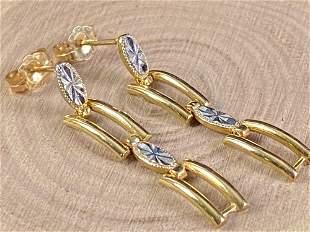 Custom 14K Gold Dangle Earrings