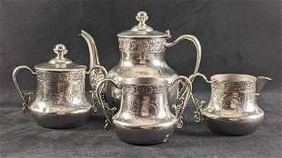 Silver-Plate Tea Set Hartford Silver Co