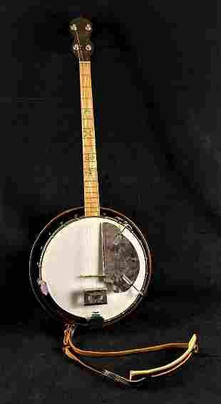 Vintage 4-string Stella Banjo With Pickguard