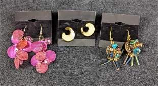Fun Earrings Fashion Earrings Pink, Blue Chico's