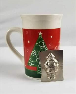Royal Norfolk Christmas Mug and Santa Chocolate Metal