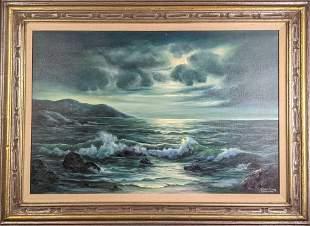 Framed Martha Palaski Original Oil On Canvas