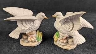 Vintage Royal Crown Porcelain Love Birds J. Byron