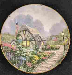 Thomas Kinkade Chandler's Cottage Collectable Plate