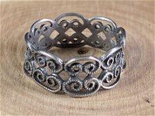 Vintage Sterling Filigree Swirl Band Ring