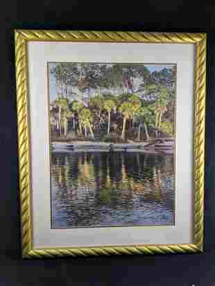 Framed Tropical Palm Print