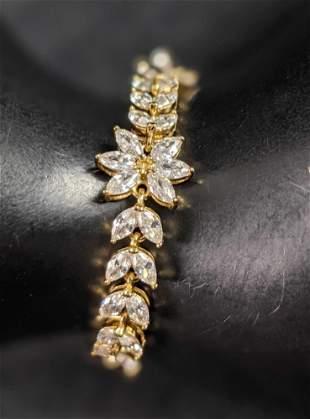 Gold Plated Snowflake Bracelet