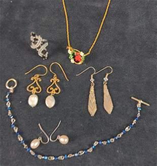 Earrings Ring Bracelet Cardinal Necklace Lot