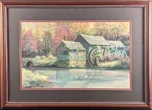 Framed Arnold Mcdowell River Mill Hidden Angel Art
