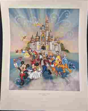 Disney's Happiest Celebration On Earth Lithograph Print