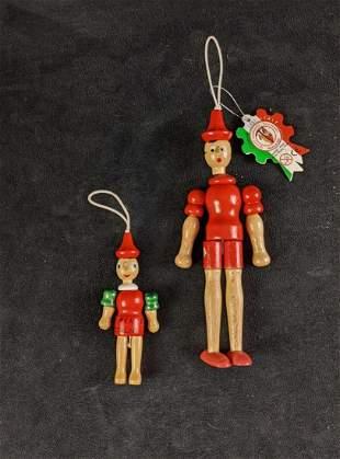 Vintage Italian Hand Painted Wooden Pinocchio Dolls (1)
