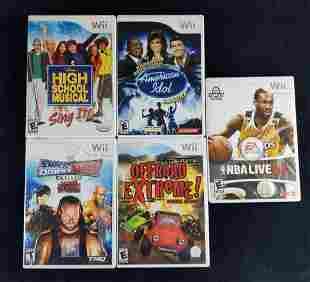 Five Nintendo Wii Video Games Music Sports Racing