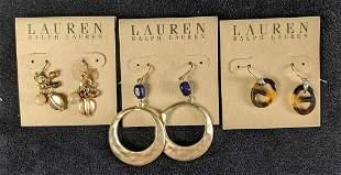 Ralph Lauren Earrings, New Gold-Toned Gem Stone