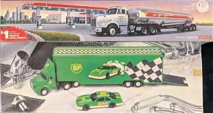 Two Exxon BP Collector Tanker Trucks Sound FX