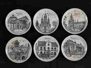 Set of 6 German Travel Souvenir Mini Decorative Plates