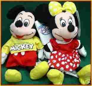 Disney Spirit Of Mickey Minnie Bean Bag Set Of Two