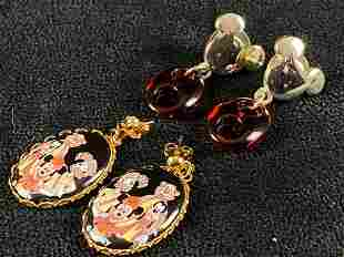 Official Disney Mickey Mouse Dangle Earrings Lot