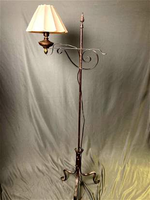 Lamp with Small White Lampshade
