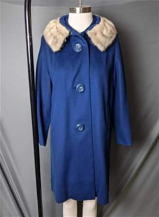 Vintage Wool Winter Coat Satin Lined