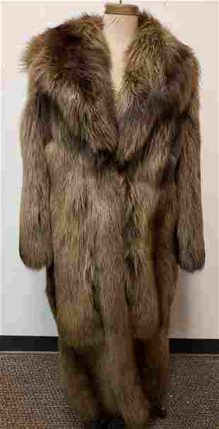 Brown Dyed Fox Full Length Fur Coat