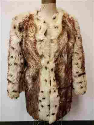 Spotted Wool Fur Coat