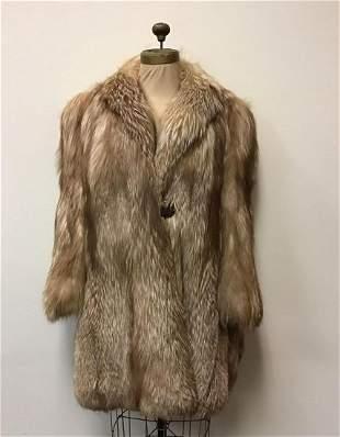 AP Clairy Platinum Fox Fur Coat