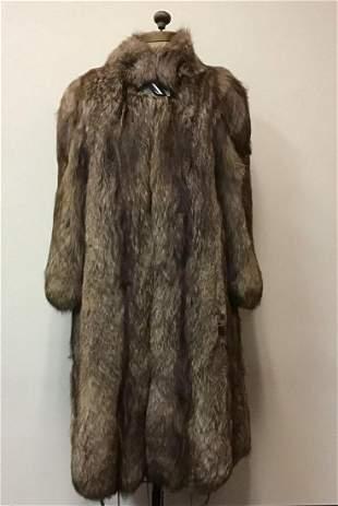 Saga Blush Fox Fur Coat Jacket Vintage Fashion