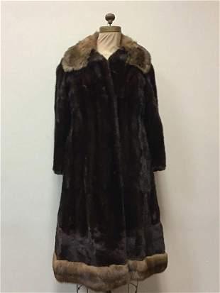 Ranch Mink with Sable Collar Fur Coat Jacket