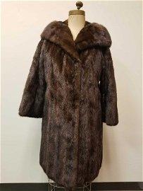Shusterman Dark Brown Mink Coat