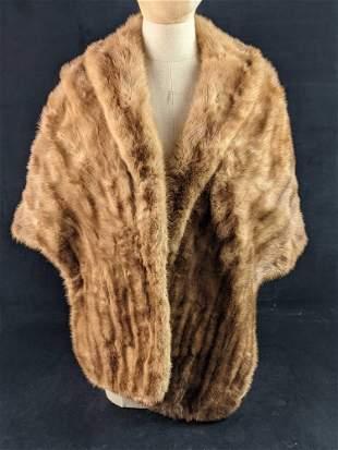 Autumn Haze Brown Mutation Mink Fur Wrap Y4