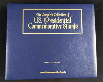 Complete Collection US Presidents Stamps W Binder