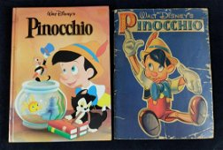 2 Vintage Disney Pinocchio Coloring and Storybook