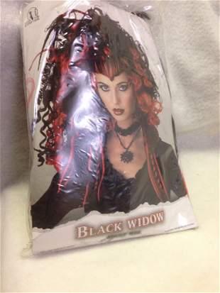 NOS-Halloween Wig-Black Widow Goth Girl 2 Electric