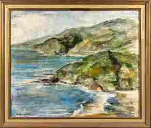 Original Oil By M Newman Seaside