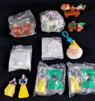 Lot of 11 Vintage Snow White Seven Dwarfs McDonald