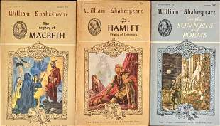 3 Vintage Shakespeare Paperbacks MacBeth Hamlet Sonnets
