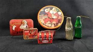 Coca Cola Christmas Santa Tin Box Lot B