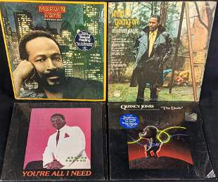 4 Vintage Soul Funk Marvin Gaye Quincy Jones Vinyl LP
