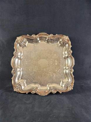 Pilgrim Silver Plated Square Serving Tray