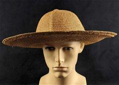 Vintage Adult Sized Straw Hat