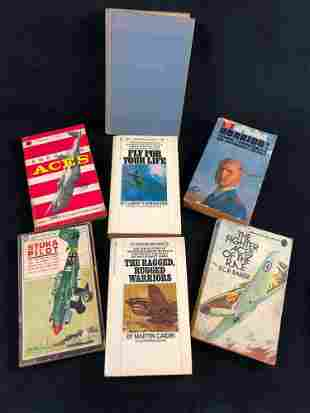 Vintage Military War Books Lot Of 7