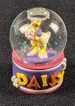 Vintage Mini Tiny Snow Globe Daisy Duck Disney