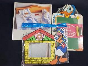 Lot of 3 Vintage Donald Duck Paper Cardboard Foam